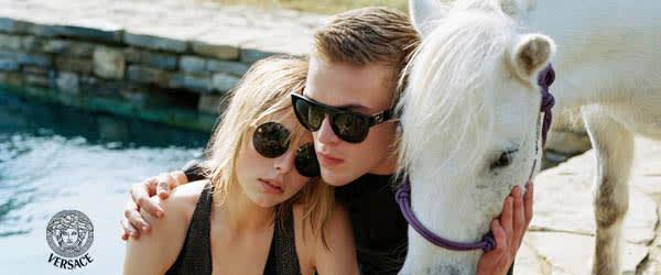 Couple with designer frames with horse, eye care - Freelton, ON