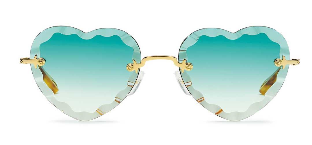 Chloe New Rosie Blue Heart Sunglasses at EYEcenter Optometric in Sacramento, CA