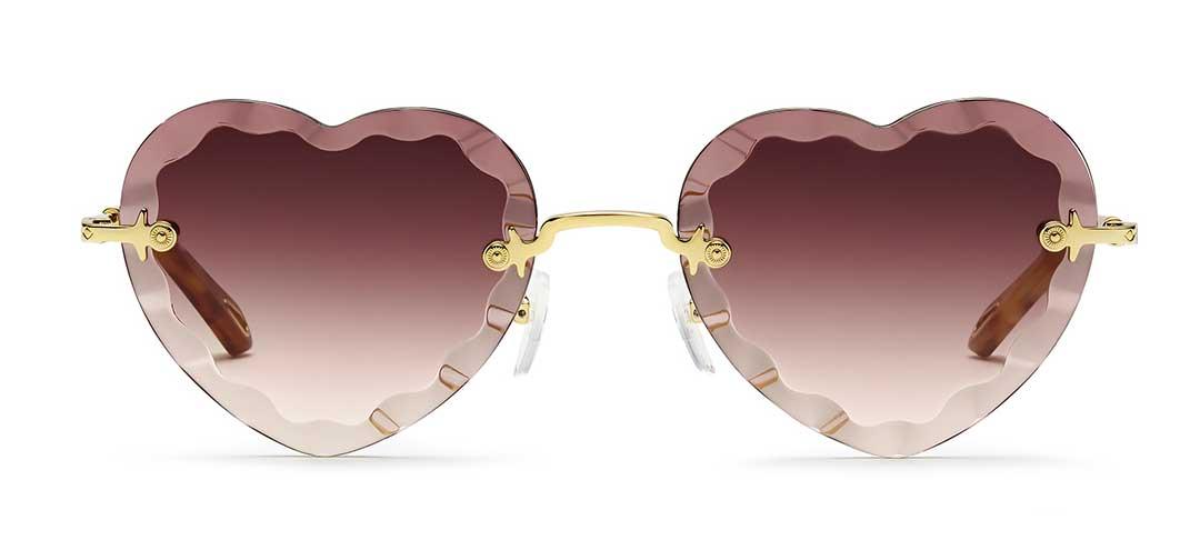 Chloe New Rosie Purple Heart Sunglasses at EYEcenter Optometric in Sacramento, CA