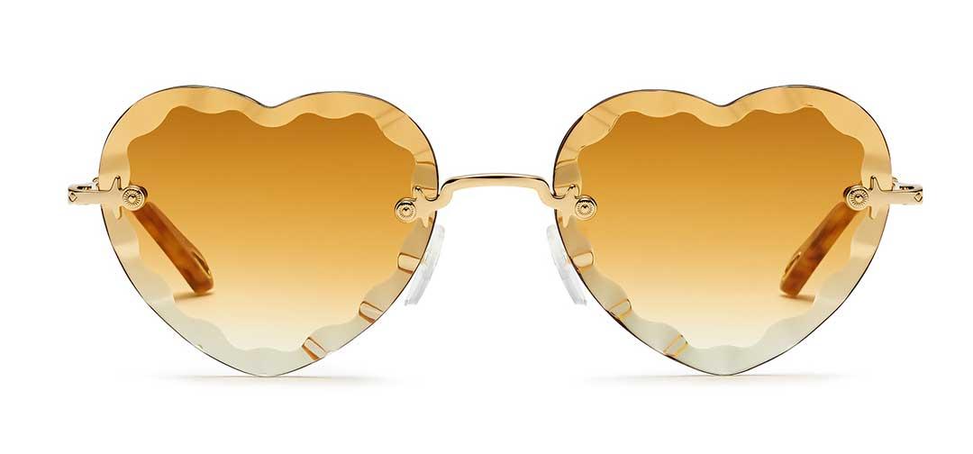 Chloe New Rosie Yellow Heart Sunglasses at EYEcenter Optometric in Sacramento, CA