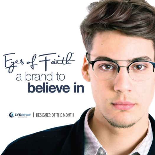 Man wearing Eyes of Faith Eyewear