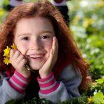 eye care, Girl Smiling Grass Flower in Citrus Heights, California