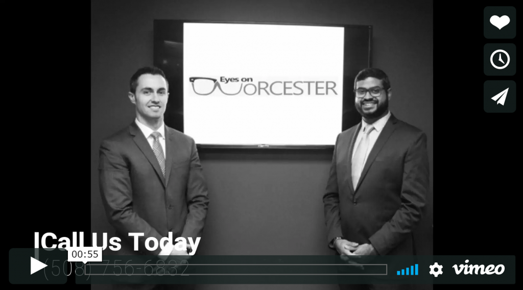 watch our Worcester eye doctors on video