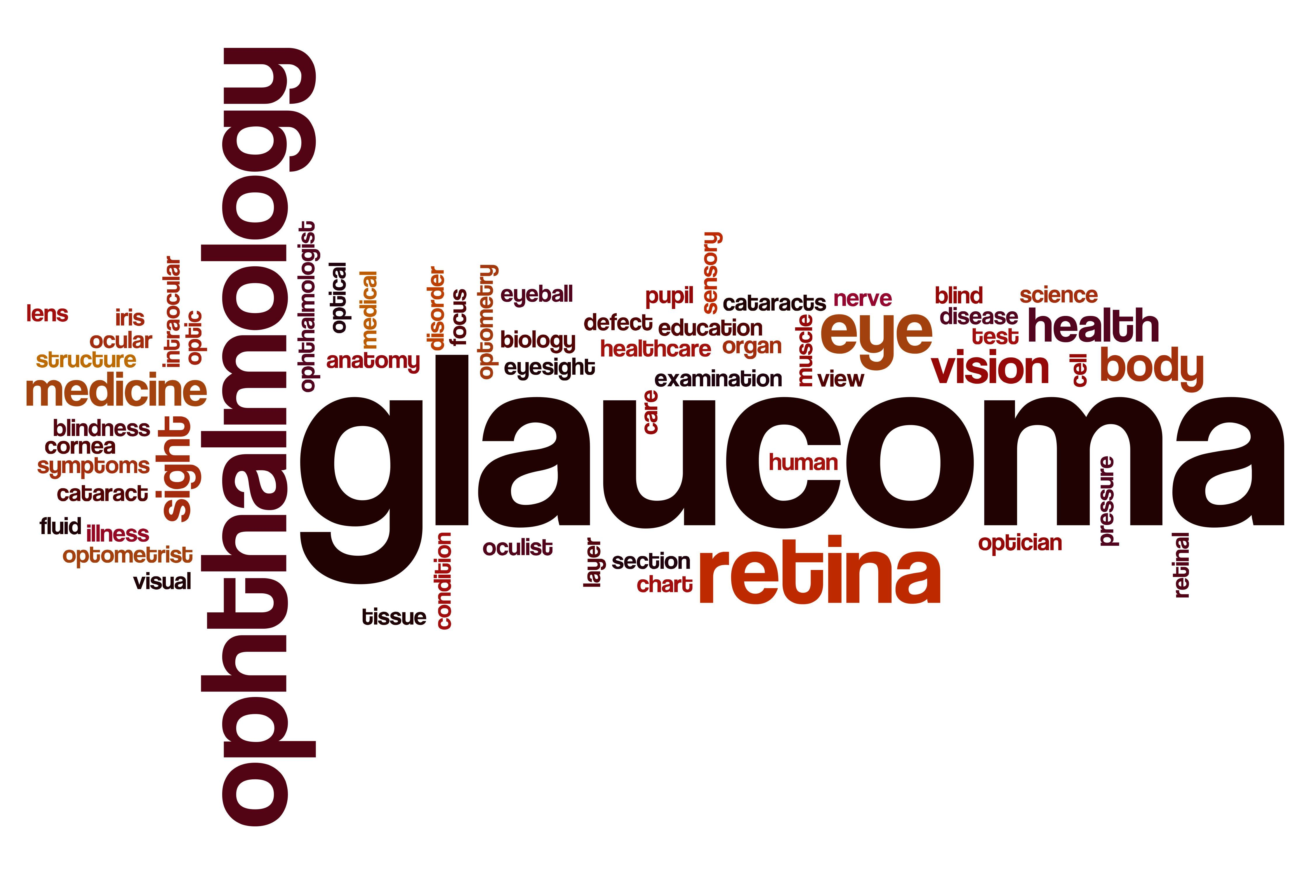 Glaucoma word cloud concept