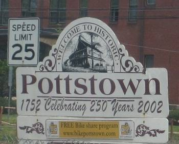 Sign of Downtown Pottstown