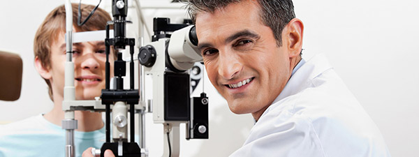 Eye Doctor and Patient in Lloydminster