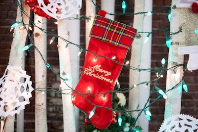 christmas merry stocking scene
