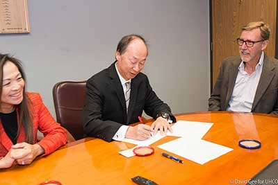 unco endowment signing