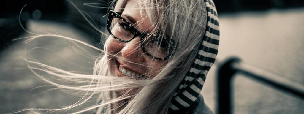 Girl Wearing Glasses in Hamilton, Ontario