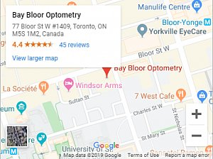 bay bloor optometry map1