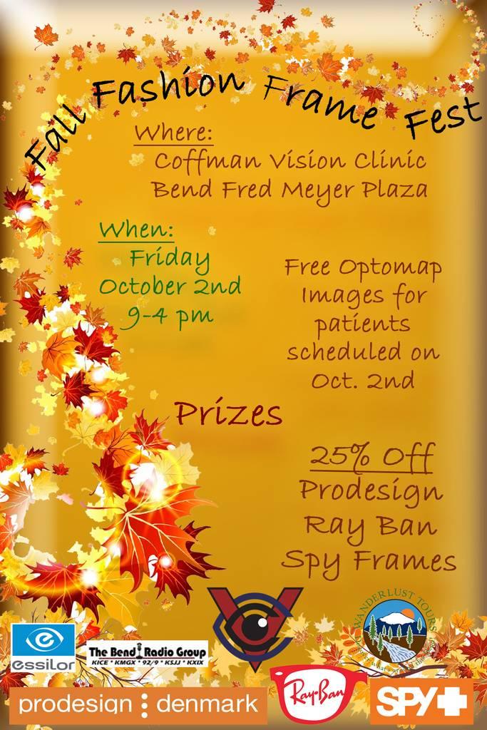 Fall Fashon Frame Fest, ProDesign, RayBan, and Spy Eyewear