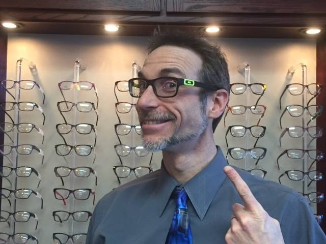 Dr. Coffman with his new glasses.  Thanks Team!