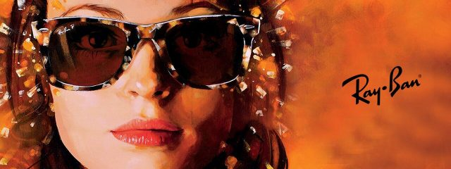 Eye doctor, woman wearing Ray-Ban sunglasses in Burlington, Massachusetts