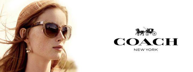 Optometrist, woman wearing Coach sunglasses in Burlington, Massachusetts