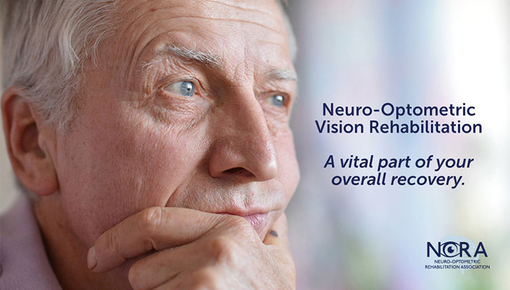 Slide that says Neuro-Optometric Vision Rehabilitation - A Vital Part of your overall recovery
