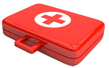 First-aid kit for eye care emergencies