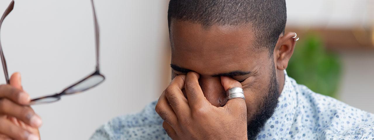 Dry Eye African American Man 1280×480