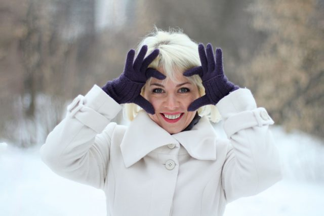 woman white coat
