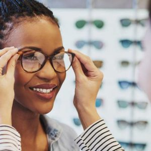 African-Woman-Trying-on-Glasses