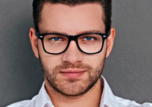 Man wearing Frames | Martin Street Optometry In Milton, ON