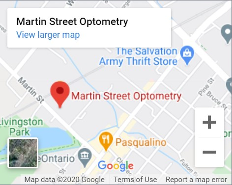 Martin Street Optometry Map