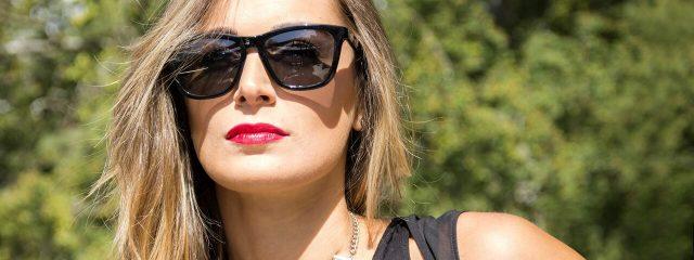 Eye doctor, woman wearing a sunglasses in Lake Mary & Orlando, FL