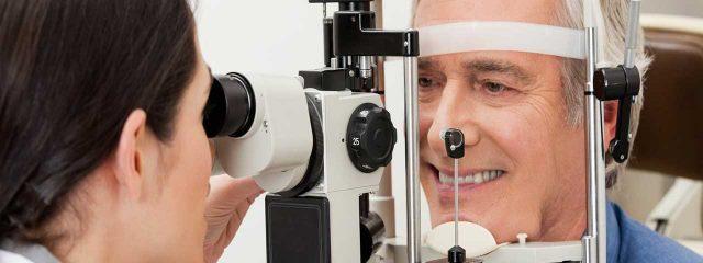 Man enjoying his eye exam