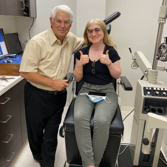 dr shuldiner with happy patient