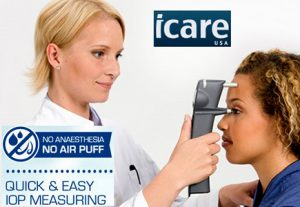 No puff practice - icare tonometer -Gunbarrel Optometry Boulder, Colorado