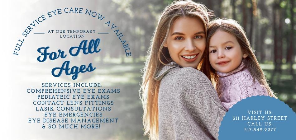 JonesvilleEyecare_FullServicesAnnouncement_Webtile