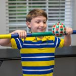 optometrist, happy vision therapy boy in Belmont North Carolina