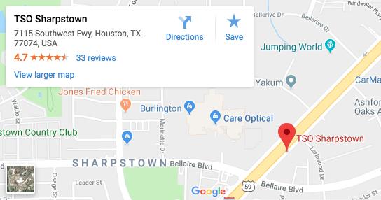 TSO Sharpstown Google Map