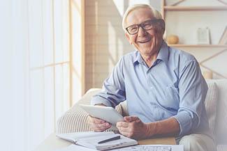 Handsome Old Man Wearing Glasses