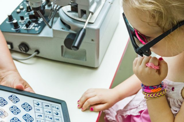 Child with Vision Therapiest at New Baltimore Optometry in New Baltimore, Michigan