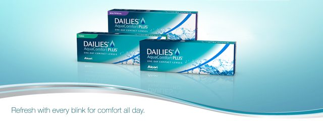 Boxes of Dailies Contact Lenses