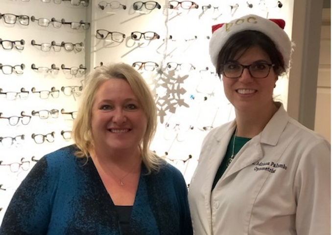 Eye Doctor and Patient Standing in West Milford optical
