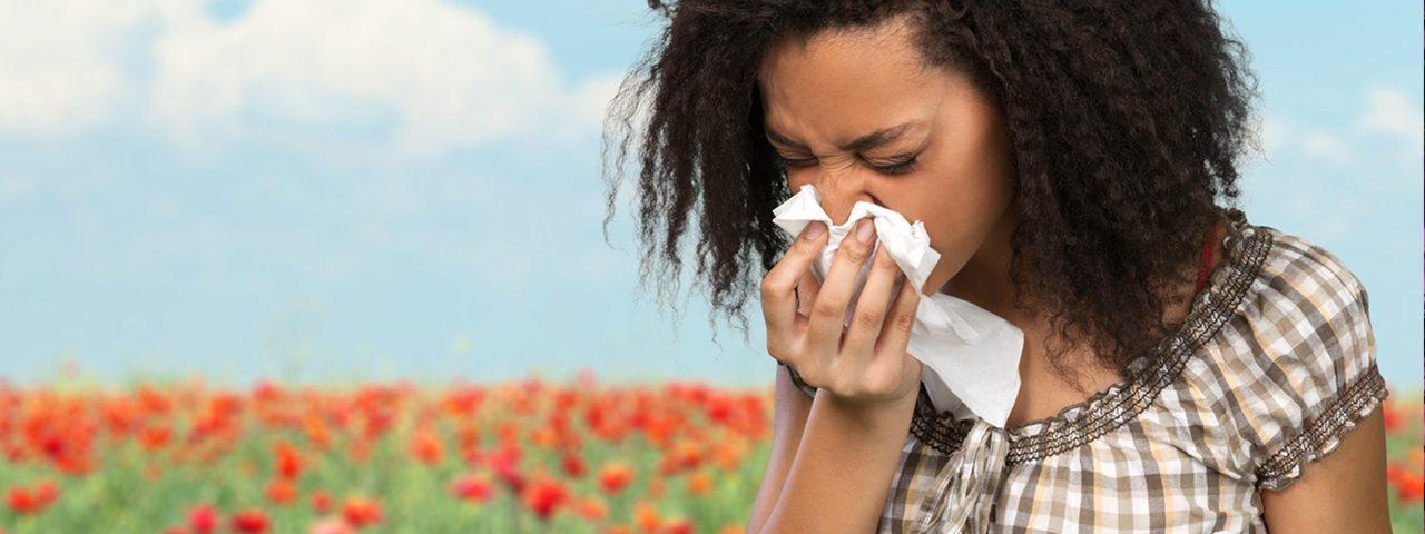 Woman having eye allergies, Eye Doctor in Cypress, TX