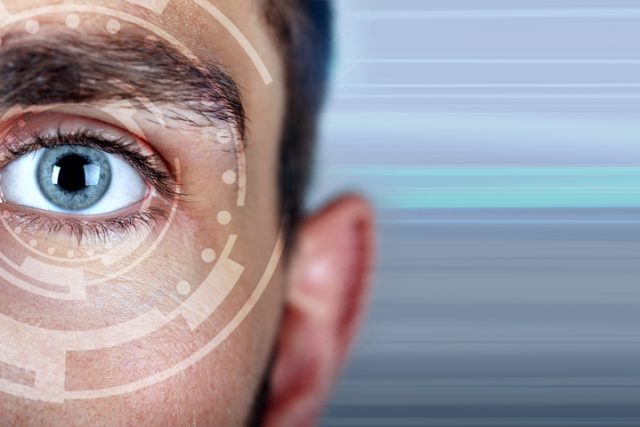 Photo of man's eye