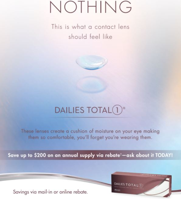 Dailies total1 rebate