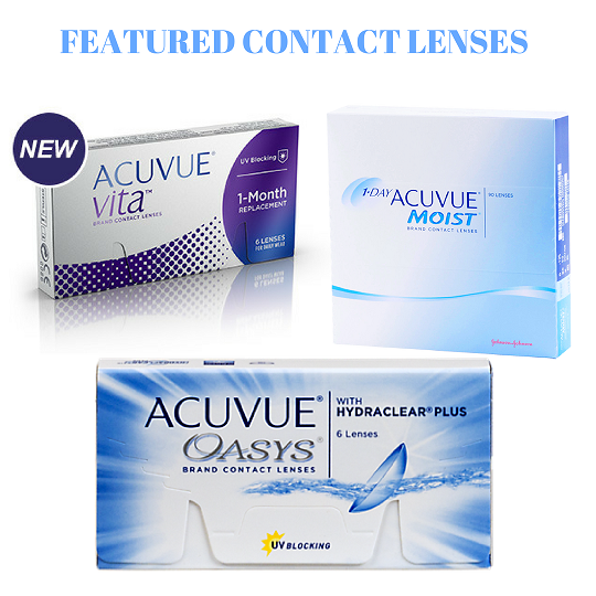 Featured Contact Lenses   Acuvue vita   1 day Moist   Acuvue Oasys