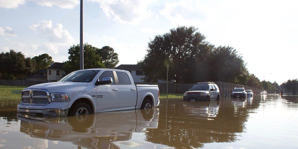 hurricane harvey cars flooded, eye doctor, Katy, TX