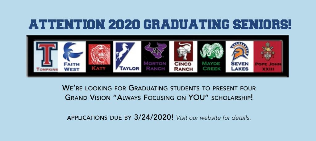 graphic - Always Focusing on You Scholarship - Katy, TX
