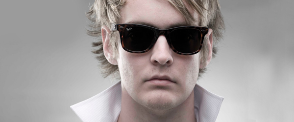 Man wearing RAY BAN sunglasses