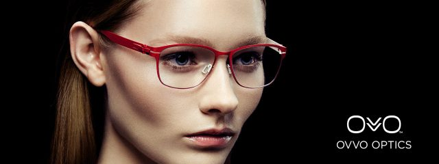 Optometrist, woman wearing Ovvo eyeglasses in Fort Lauderdale, FL