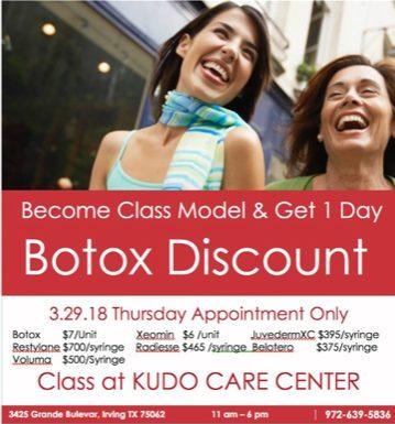 Kudo Care Botox Class Model