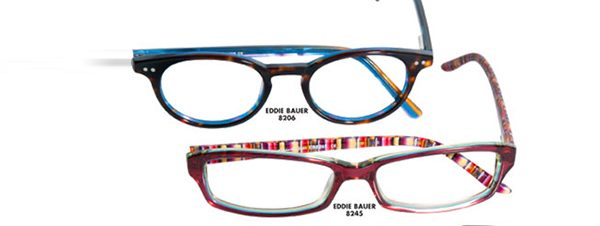 Eye doctor, pairs of Eddie Bauer eyeglasses in Delaware, Ohio