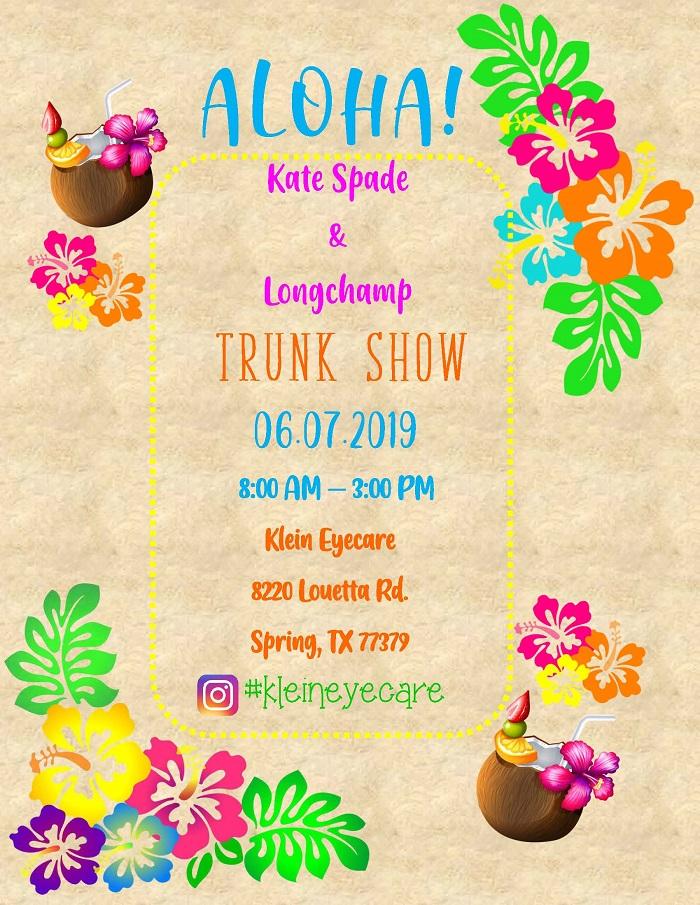 Aloha Trunk Show Flyer 20191