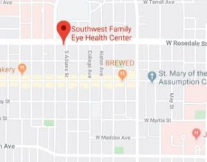 SOUTHWEST FAMILY EYE HEALTH CENTER MAP