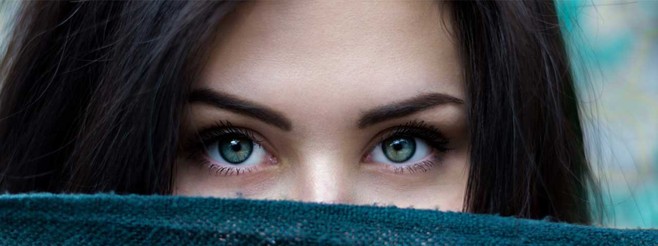 Close-up of woman's eyes
