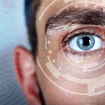 man with corneal transplant treatment